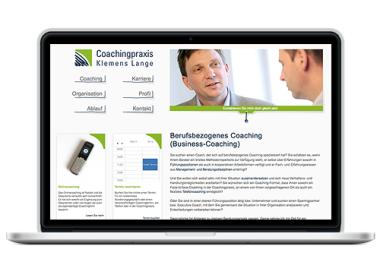 Gestaltung der Webseite für Coachingpraxis Klemens Lange